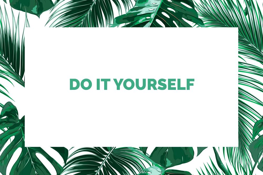 Vous n'avez pas la main verte, soyez créative avec ce projet DIY de grande affiche tropicale en tissu qui donnera un coup de vert à votre déco !